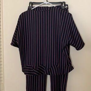 Zara stripped pants suit